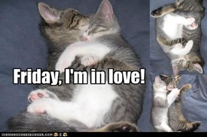 Friday, I'm in Love: Owr Menne Nappin Posishuns
