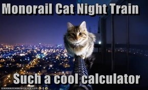 Monorail Cat Night Train  Such a cool calculator
