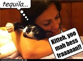 Kitteh, yoo mah bess fraaaaan!!