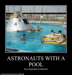 ASTRONAUTS WITH A POOL