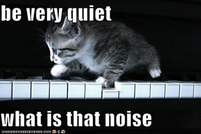 be very quiet  what is that noise