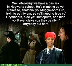 We have a Basilisk in Hogwartz