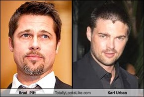 Brad  Pitt Totally Looks Like Karl Urban