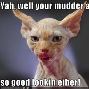 Yah, well your mudder ain't  so good lookin eiber!