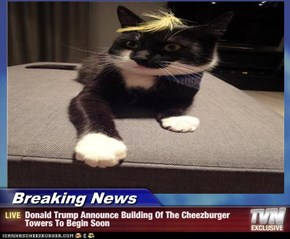 Breaking News - Donald Trump Announce Building Of The Cheezburger Towers To Begin Soon