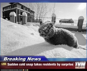 Breaking News - Sudden cold snap takes residents by surprise