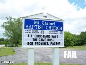 Pastor Ego Fail
