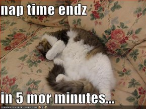 nap time endz  in 5 mor minutes...