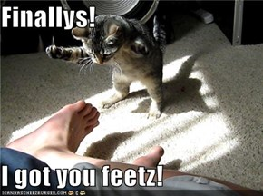 Finallys!  I got you feetz!