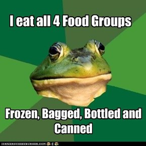 Foul Bachelor Frog: Four Food Groups