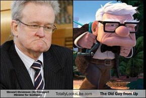 Stewart Stevenson (Ex Transport Minister for Scotland) Totally Looks Like The Old Guy from Up