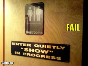 Bathroom Door Signs FAIL