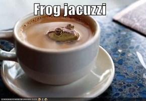 Frog jacuzzi