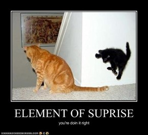 ELEMENT OF SUPRISE