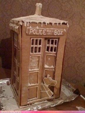 Gingerbread TARDIS: Om, Nom, Nom!