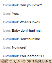 Cleverbot Haddaway With Words