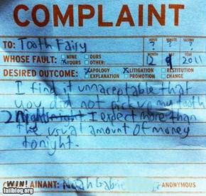 Toot Fairy Complaint WIN