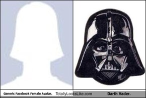 Generic Facebook Female Avatar. Totally Looks Like Darth Vader.
