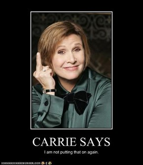 CARRIE SAYS