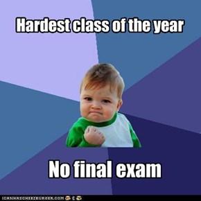 No final exam