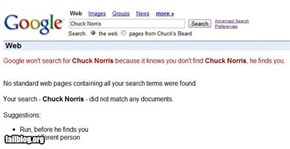 Google won't search for Chuck Norris