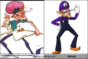 The Peculiar Purple Pieman of Porcupine Peak Totally Looks Like Waluigi
