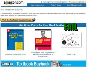 amazon.com Textbook Buyback FAIL