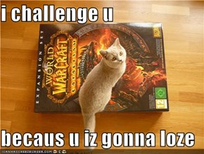 i challenge u  becaus u iz gonna loze