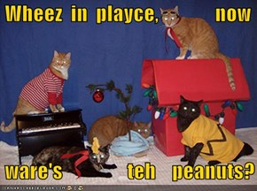 Wheez  in  playce,              now   ware's                teh    peanuts?