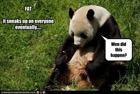 FAT  it sneaks up on everyone eventually.....