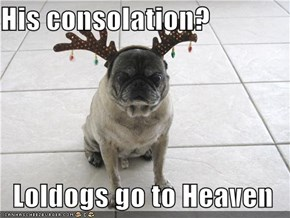 His consolation?  Loldogs go to Heaven