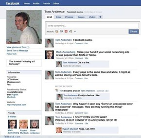 Classic: Tom Joins Facebook