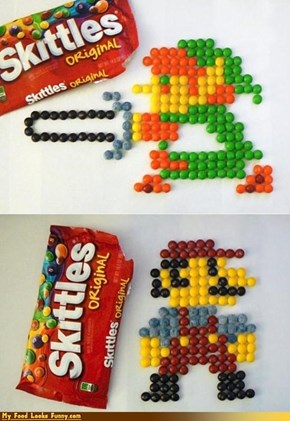 Funny Food Photos - 8-Bit Skittles