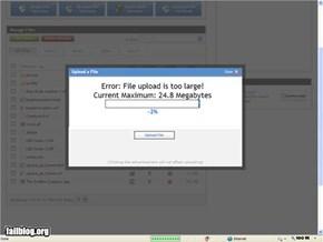 Uploading Fail