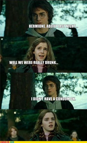 Harry Confesses to Hermione