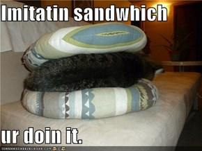 Imitatin sandwhich  ur doin it.