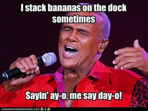 I stack bananas on the dock sometimes
