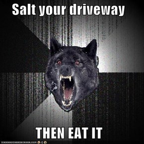 Salt your driveway  THEN EAT IT