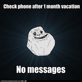 Check phone after 1 month vacation