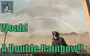 Woah! A Double Rainbow!!