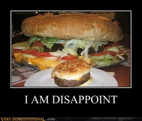 I AM DISAPPOINT