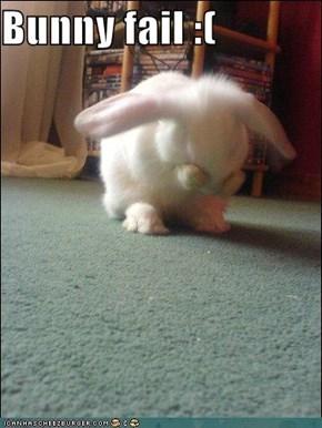 Bunny fail :(