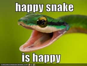 happy snake            is happy