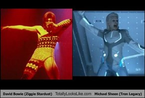 David Bowie (Ziggie Stardust) Totally Looks Like Michael Sheen (Tron Legacy)
