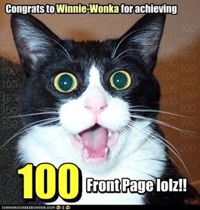Congrats to Winnie-Wonka! **100** FPs on ICHC!!