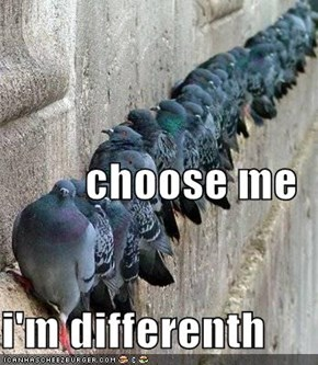choose me i'm differenth