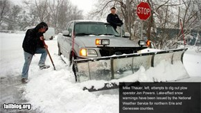 Snow Plow Fail