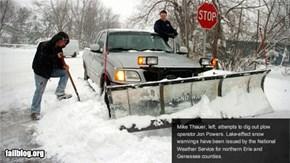 Snow Plow Fail
