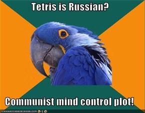 Paranoid Parrot: Tetris