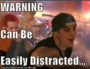 WARNING Can Be Easily Distracted...